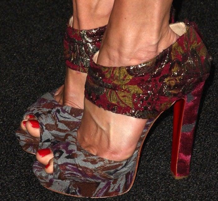 Cat Deeley's sexy feet in Christian Louboutin for Michael van der Ham shoes
