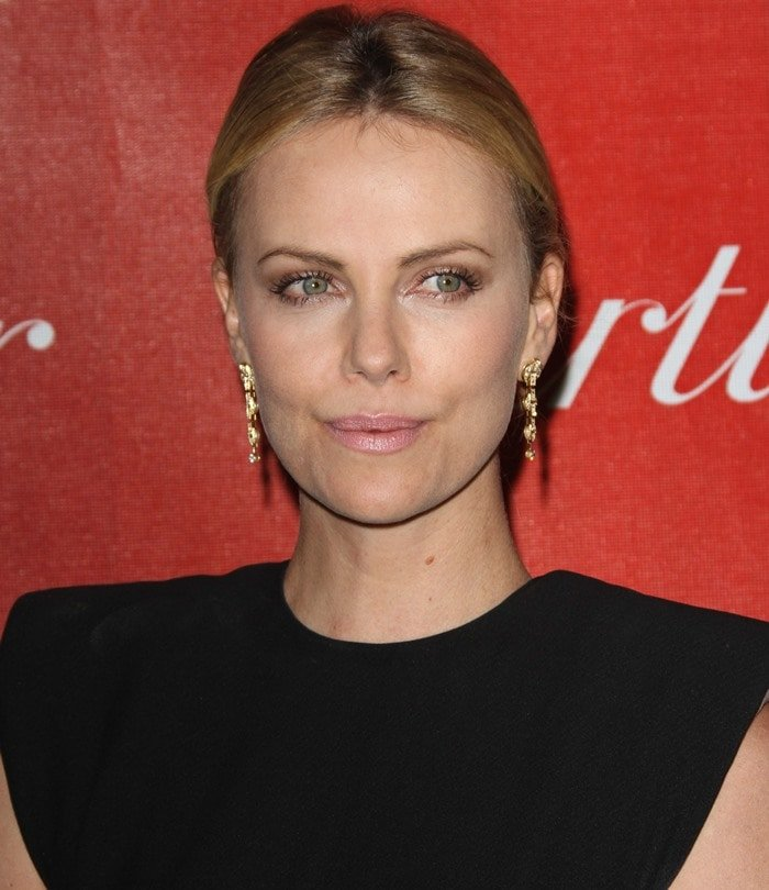 Charlize Theron in a Lanvin dress at the 23rd annual Palm Springs International Film Festival Awards Gala held in Los Angeles on January 7, 2012