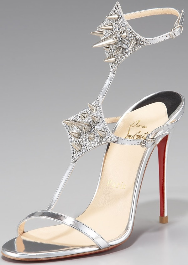 Christian Louboutin Lady Max Spike in Silver