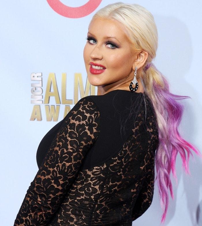 Christina Aguilera at the 2012 NCLR ALMA Awards, held at Pasadena Civic Auditorium in Pasadena on September 16th, 2012