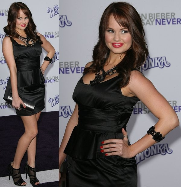 "Debby Ryan at the Los Angeles Premiere of ""Justin Bieber: Never Say Never"" held at Nokia Theatre L.A. Live in Los Angeles on February 8, 2011"