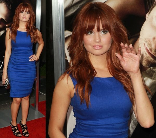 Debby Ryan flaunted her legs at the premiere of CBS Films' 'The Words' at the ArcLight Cinema in Hollywood on September 4, 2012