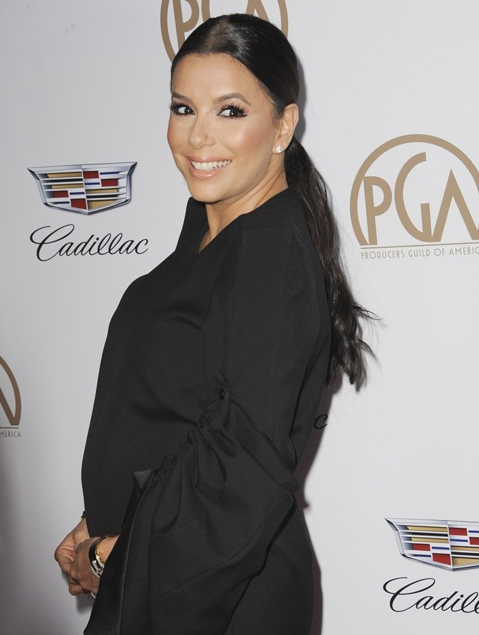 Eva Longoria at the 2018 Producers Guild Awards held at the Beverly Hilton Hotel in Beverly Hills, California, on January 20, 2018