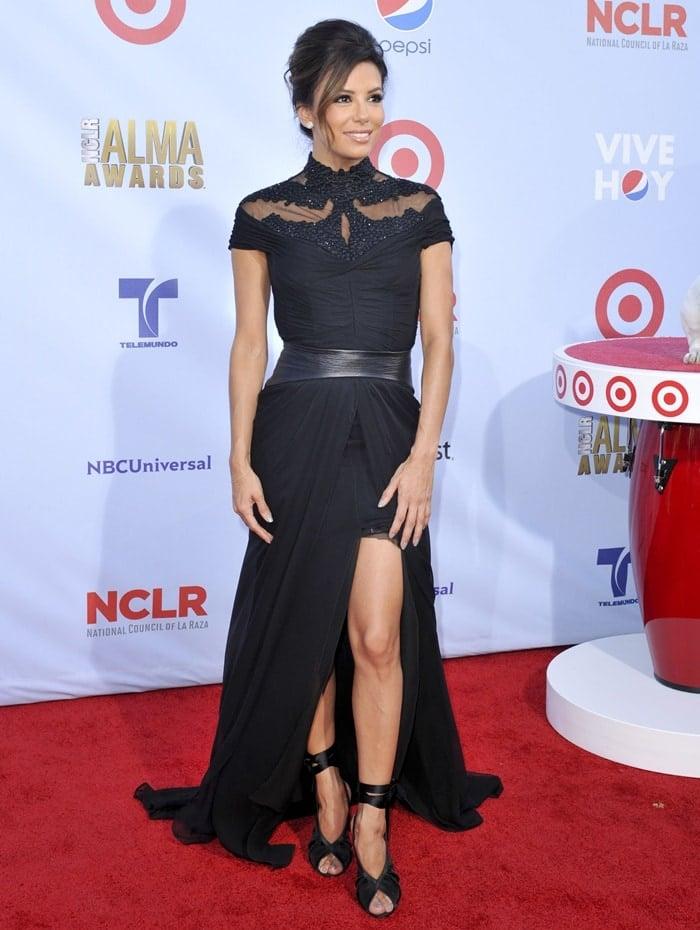 Eva Longoria arrives at the 2012 NCLR ALMA Awards held at Pasadena Civic Auditorium in Pasadena, California on September 16, 2012