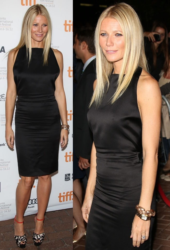 "Gwyneth Paltrow attends the premiere of her film ""Thanks for Sharing"" held during the Toronto International Film Festival"