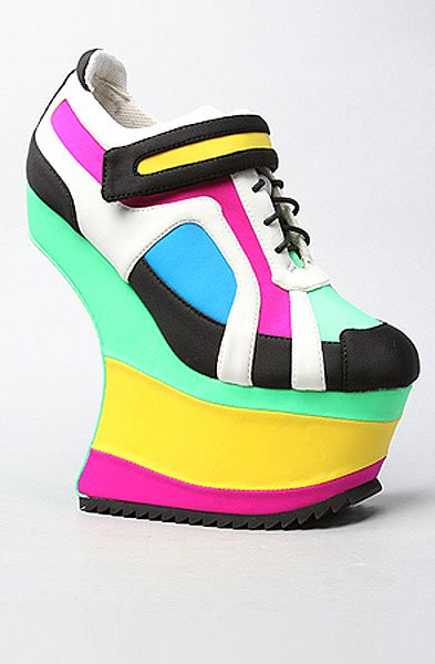 Jeffrey Campbell 'Ascension' shoe in green blue combo