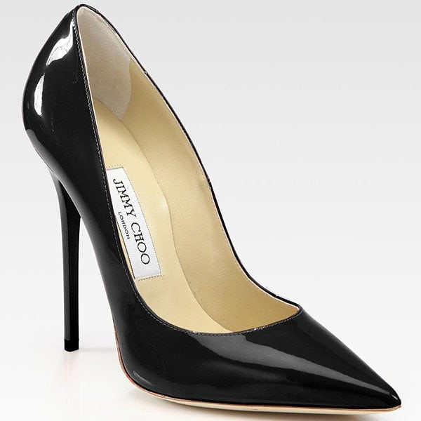 Jimmy Choo Anouk in Black Patent Leather