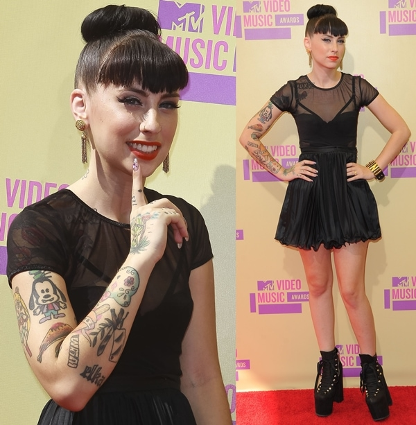 Kreayshawn at the 2012 MTV Video Music Awards held at the Staples Center in Los Angeles on September 6, 2012