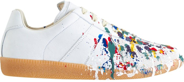 Maison Martin Margiela Exclusively Ours Paint Splatter Low Top Side