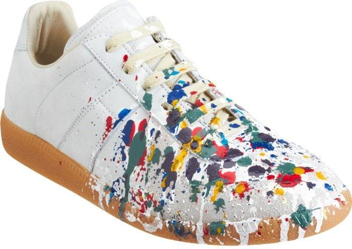 Maison Martin Margiela Paint Splatter Low Top Sneakers