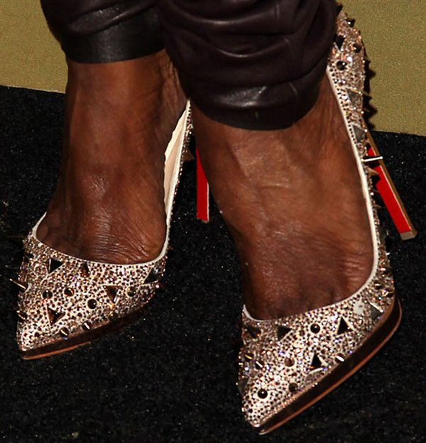 Nene Leakes revealed toe cleavage in Christian Louboutin shoes