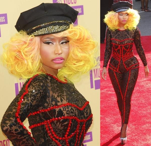 Nicki Minaj at the 2012 MTV Video Music Awards held at the Staples Center in Los Angeles on September 6, 2012