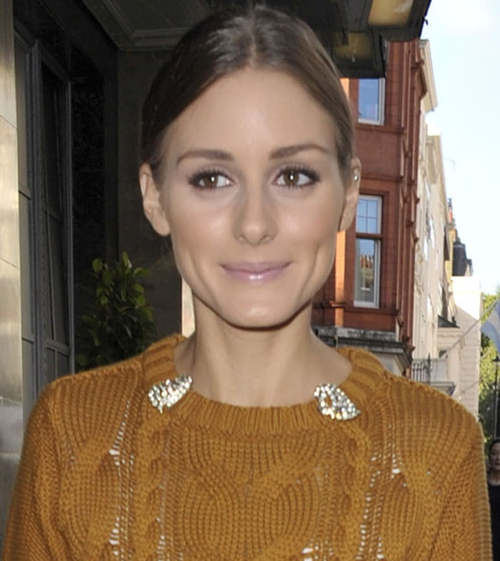 Olivia Palermo attends London Fashion Week Spring/Summer 2013 in London on September 19, 2012