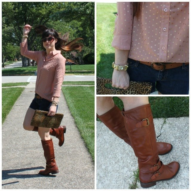Riding Boots With Shorts Combo Picture