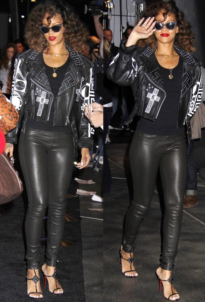 Rihanna walks the black carpet atthe premiere of Cirque du Soleil'sMichael Jackson: The Immortal World Tour