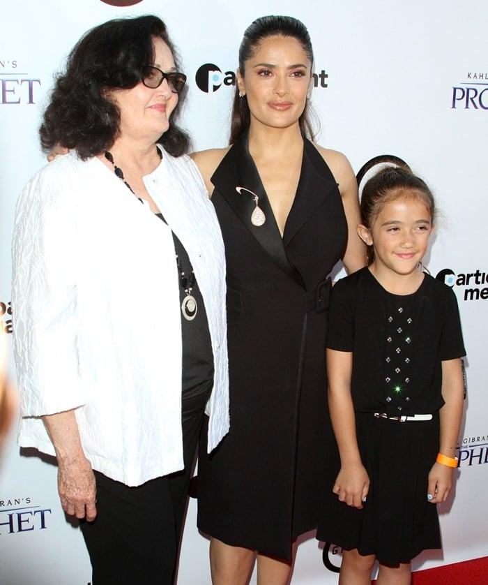 Salma Hayek with her mother Diana Jimenez Medina and her daughter Valentina Paloma Pinault