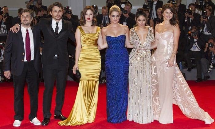 Selena Gomez, Vanessa Hudgens, Ashley Benson, Rachel Korine, James Franco and Harmony Korine