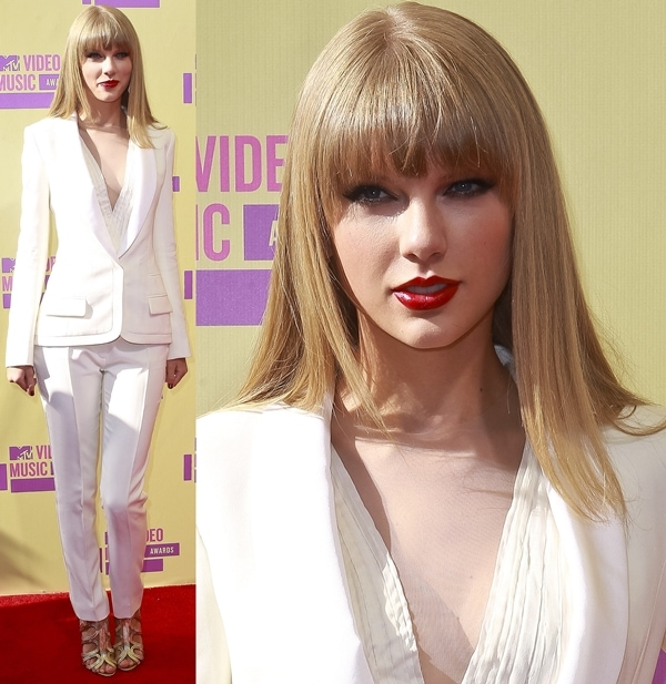 Taylor Swift at the 2012 MTV Video Music Awards held at the Staples Center in Los Angeles on September 6, 2012