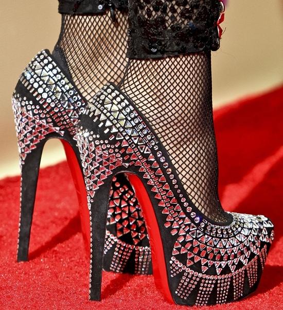 Nicki Minaj rocks Christian Louboutin's 'Decorapump' shoes