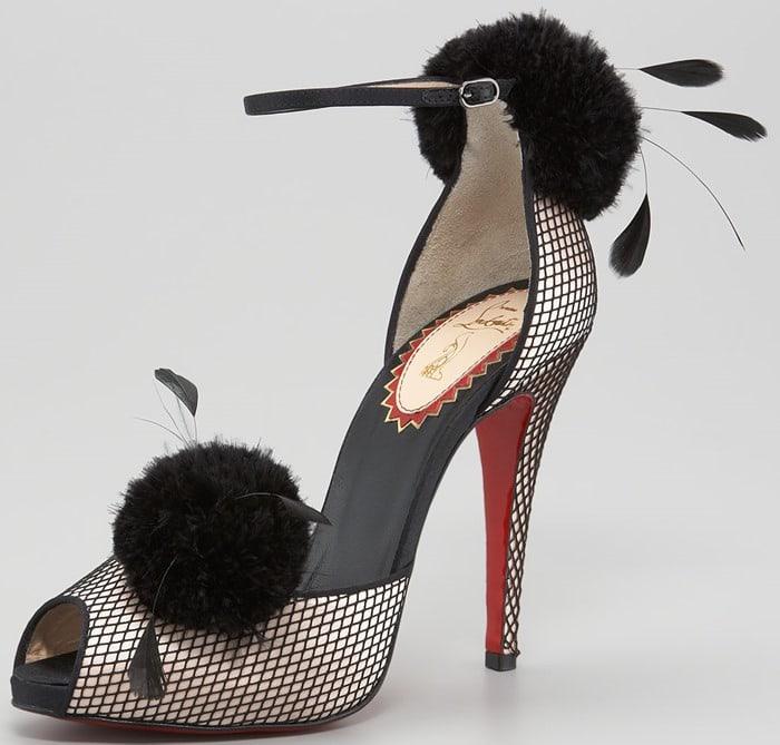 "Christian Louboutin ""Pluminette"" Peep-Toe Sandals"