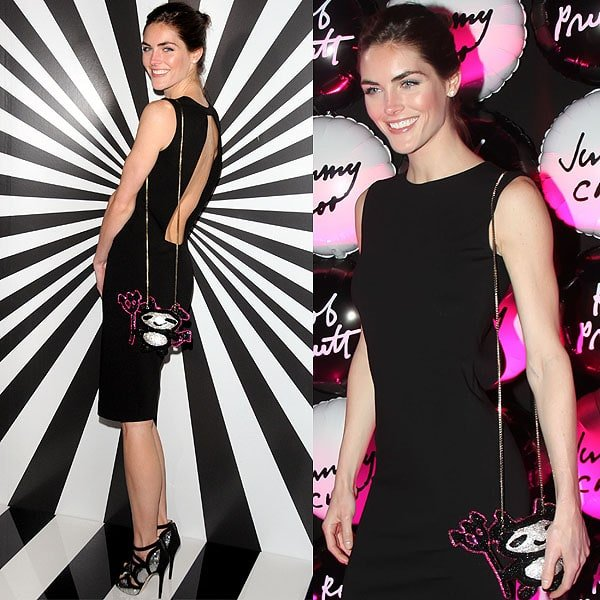 Hilary Rhoda attends Jimmy Choo Celebrates the Launch of the Exclusive Collaboration with Artist Rob Pruitt
