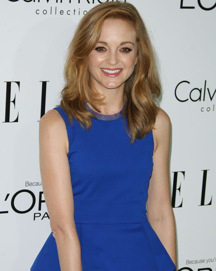 Jayma Mays attends ELLE's 19th Annual Women In Hollywood Celebration held at Four Seasons Hotel in Beverly Hills, California on October 15, 2012