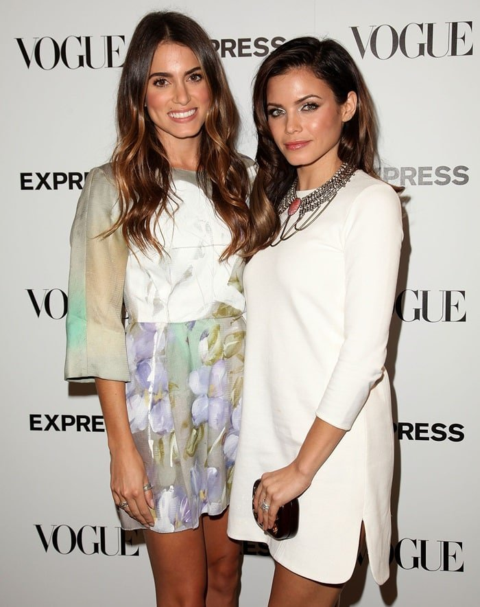 Nikki Reed and Jenna Dewan-Tatum at the Express And Vogue Celebrate 'The Scenemakers' at Chateau Marmont in Hollywood on September 27, 2012