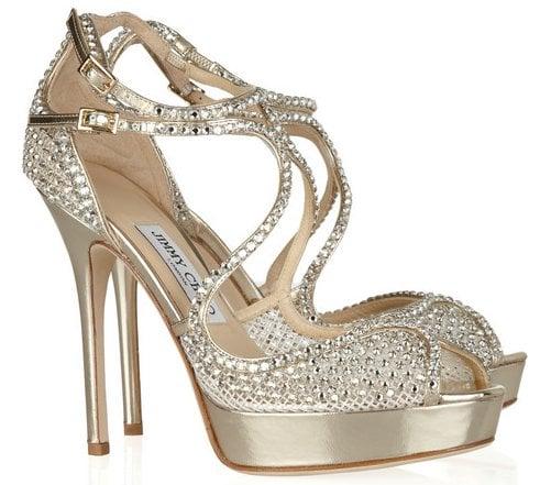 Jimmy Choo Crystal Falcon Sandals
