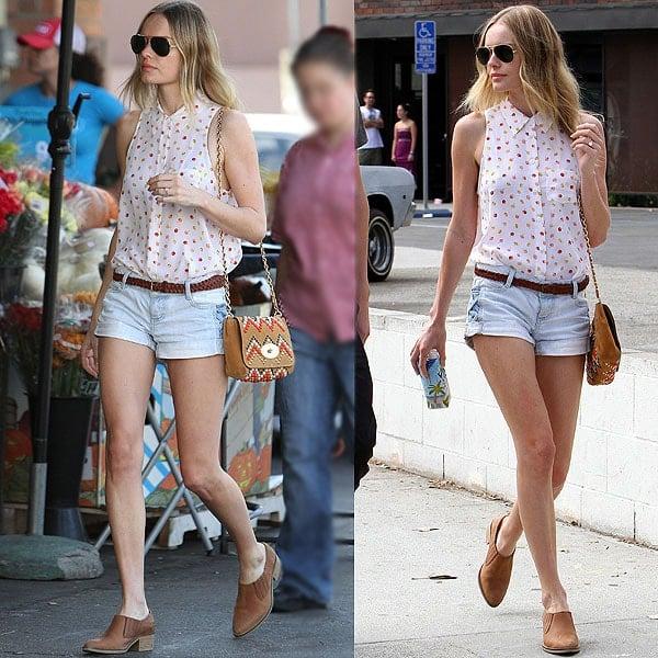 Kate Bosworth heads to Bristol Farms in Santa Monica