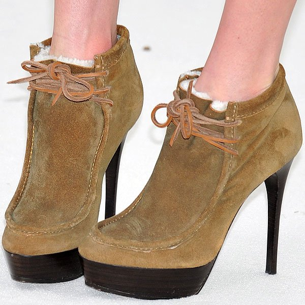 Kate Bosworth rocksBurberry Prorsum fur-lined ankle boots