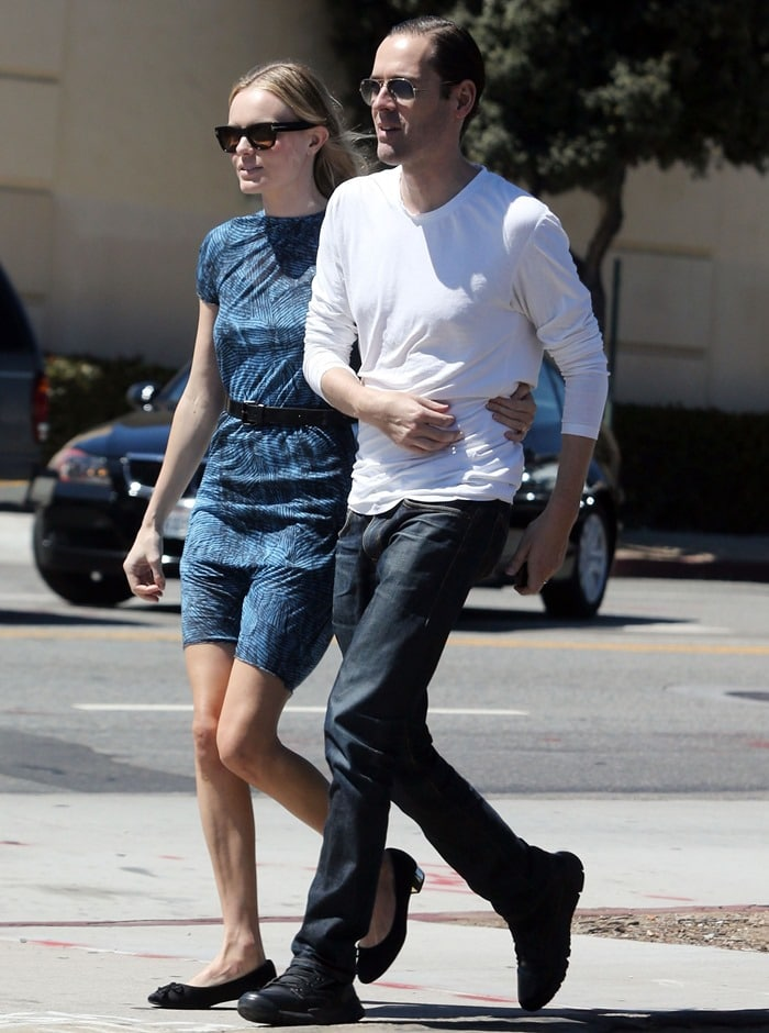 Kate Bosworth in low heel pumps while out with Michael Polish in Los Angeles on June 26, 2012