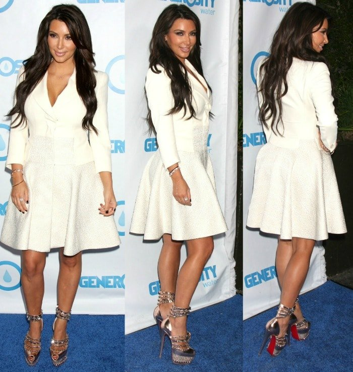 Kim Kardashian at the 4th annual Night of Generosity Gala held at the Hollywood Roosevelt Hotel in Hollywood California on May 4, 2012