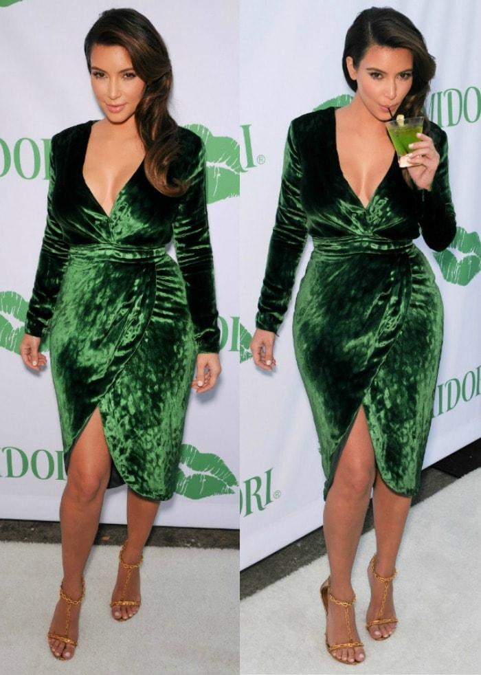 Kim Kardashian hosts the Midori Makeover Parlour at Fred Segal in Santa Monica California on September 25, 2012