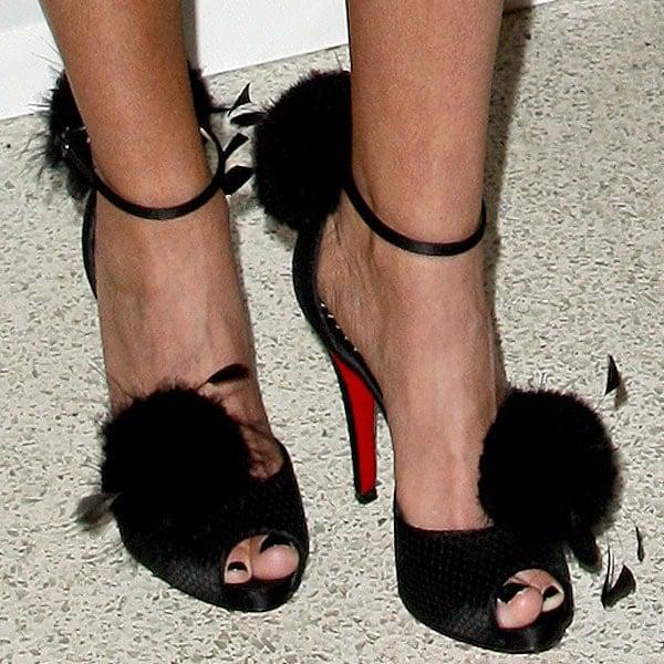 Kristin Chenoweth's sexy feet in Christian Louboutin heels
