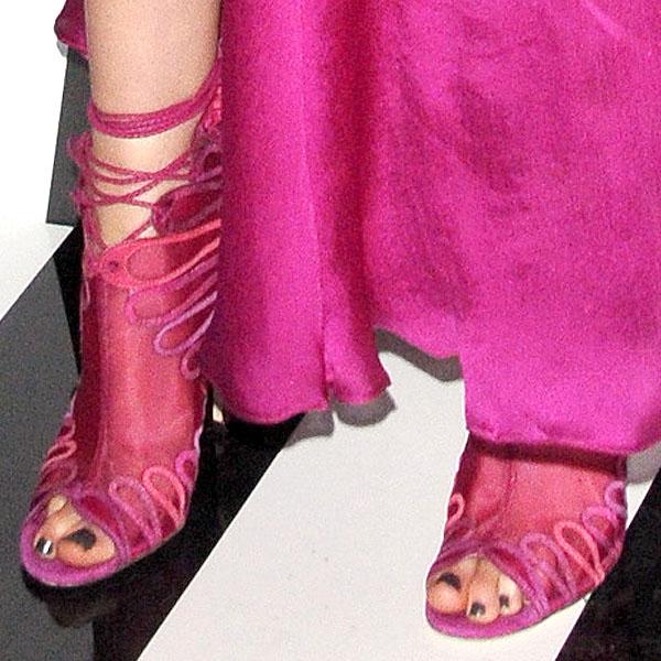 Krysten Ritter's sexy feet in Jimmy Choo Kairo heels