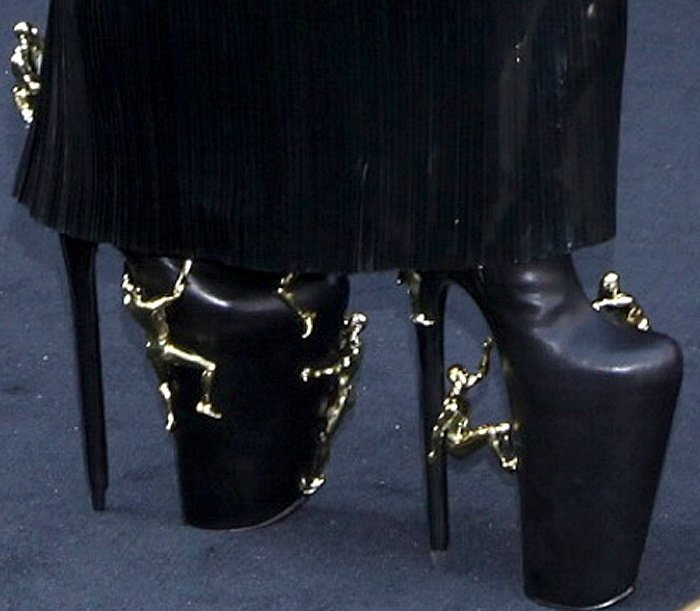 Not surprisingly, the Dutch shoe label United Nude custom made this pair for Lady Gaga
