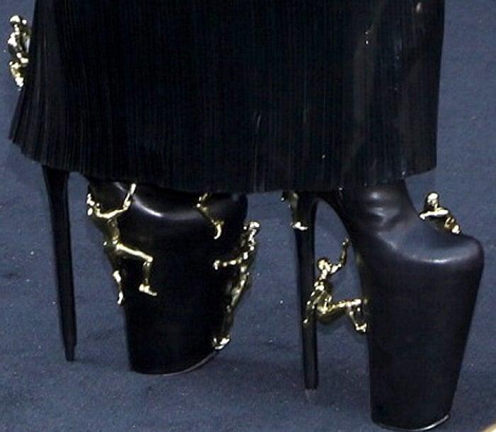 Lady Gaga rocks custom boots by United Nude