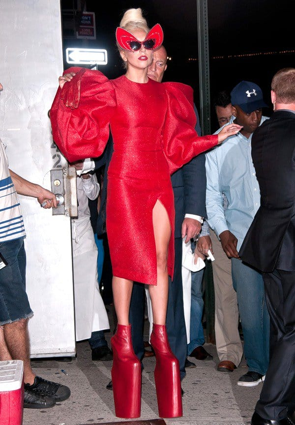 Lady Gaga in the Meatpacking District in New York City on September 12, 2011