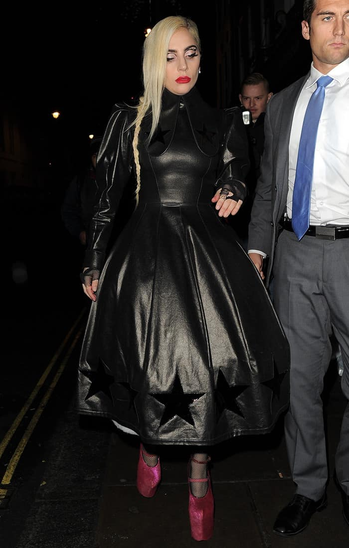 Lady Gaga on a night out seen leaving Groucho club in Soho, looking worse for wear on December 6, 2016