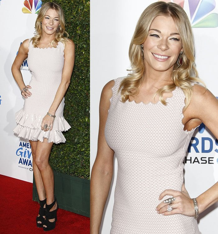LeAnn Rimes at the 1st annual American Giving Awards held at the Dorothy Chandler Pavilion in Los Angeles on December 9, 2011