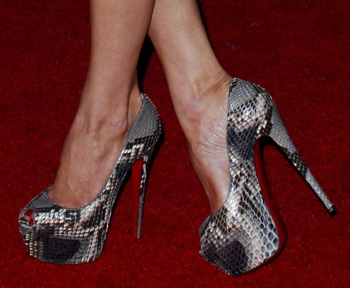 LeAnn Rimes in Christian Louboutin Highness pumps