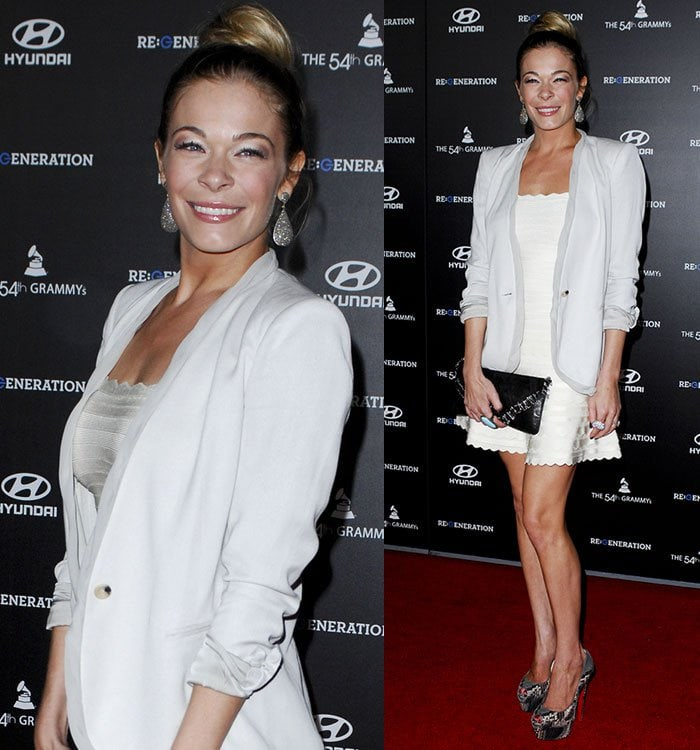 LeAnn Rimes at the Premiere of 'Re: Generation Music Project' on February 9, 2012