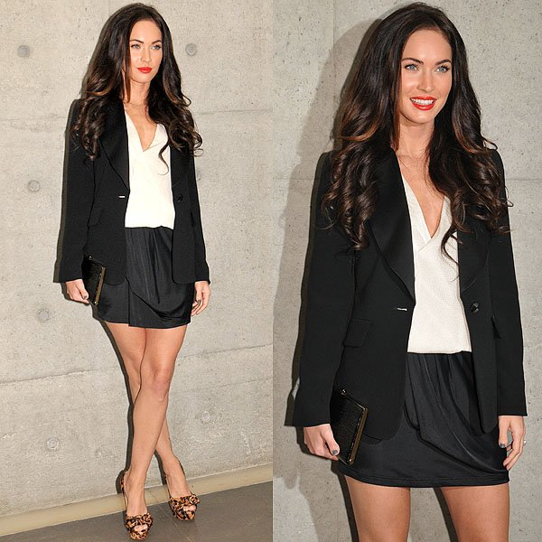 Megan Fox attends the Emporio Armani Spring/Summer 2011 fashion show held during Milan Fashion Week in Milan, Italy on September 25, 2010