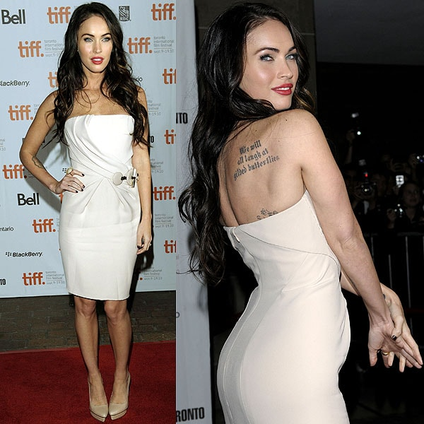 """Megan Fox arrives at the """"Passion Play"""" premiere held during the 35th Toronto International Film Festival at the Ryerson Theatre in Toronto, Canada on September 10, 2010"""