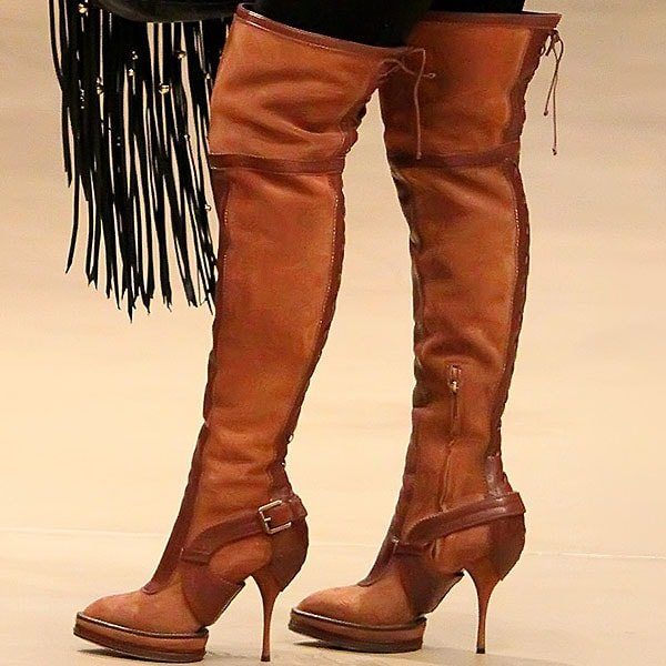 Megan Fox rocks Christian Dior Intrigante over-the-knee boots