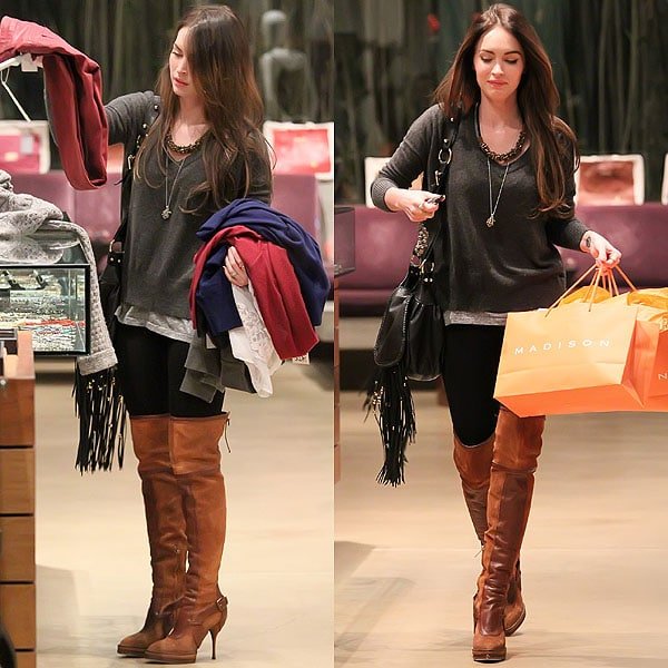 Megan Fox shops at Madison boutique in West Hollywood in Los Angeles, California on November 30, 2011