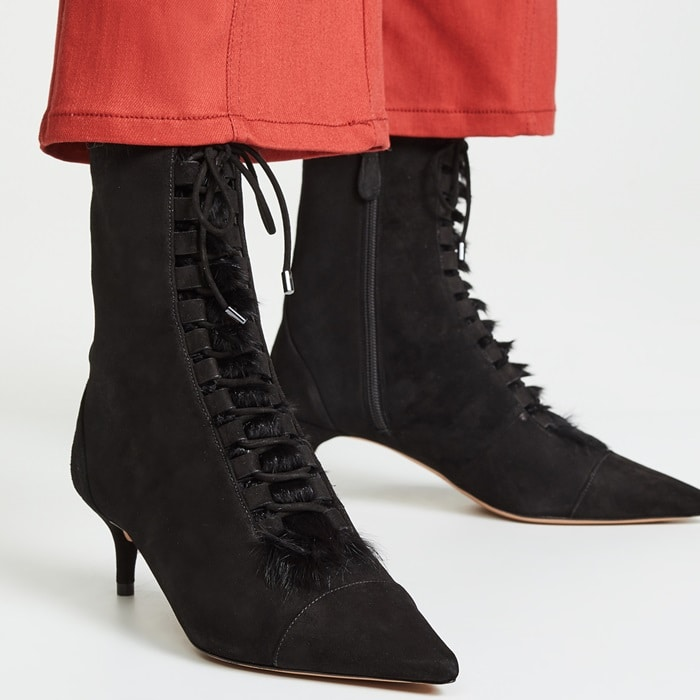 Millen Lace-Up Leather Ankle Boots