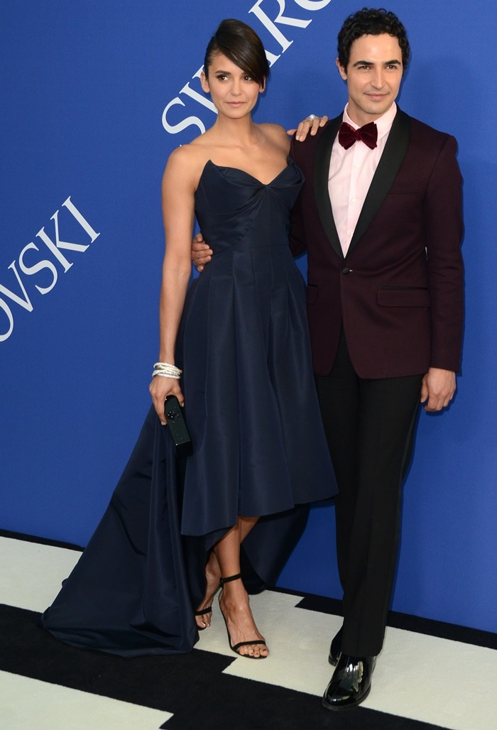 Nina Dobrev and Zac Posen at the 2018 CFDA Fashion Awards held at the Brooklyn Museum in New York City on June 4, 2018