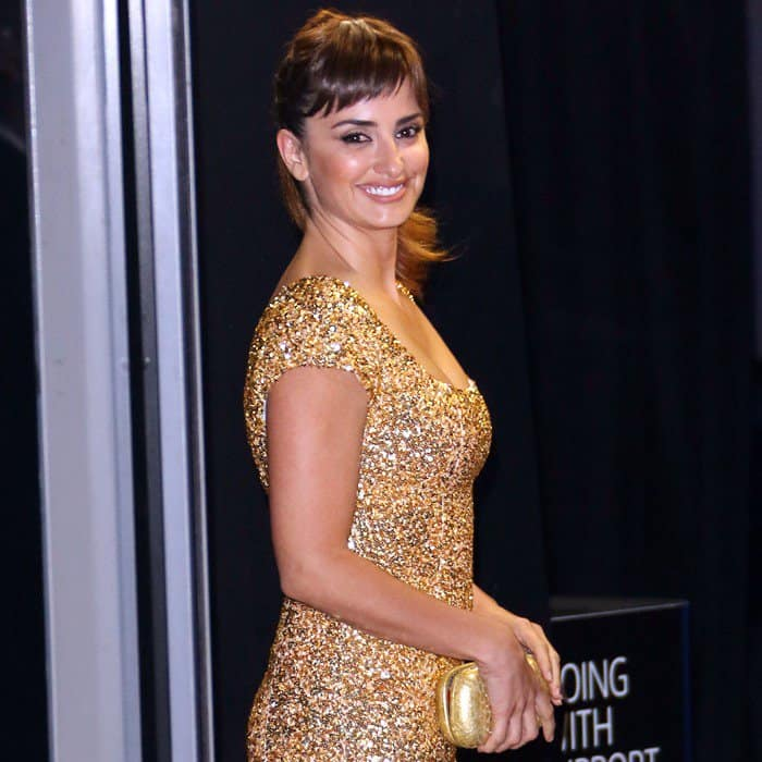 Penelope Cruz at the royal world premiere of 'Skyfall' held at the Tate Modern in London, England, on October 23, 2012