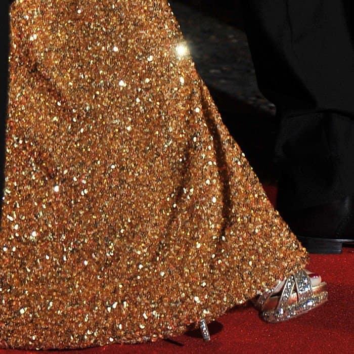 Penelope Cruz wearing Nicholas Kirkwood platform sandals